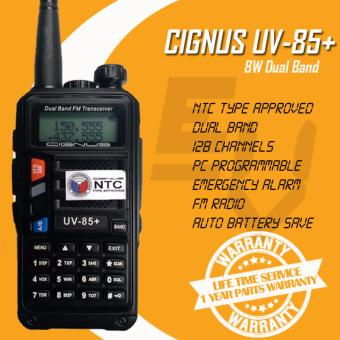 Cignus UV-85+ Tri-Power (1/4/8w) 8 Watts Dual Band Analog Portable Two-Way Radio (Black)