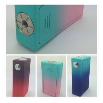 Cigreen rubberized abs box mod brown red(mod only) - 2