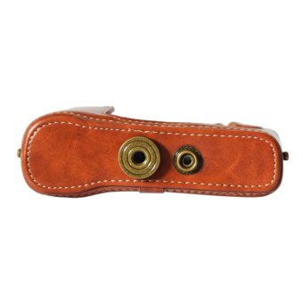 Classic PU Leather Camera Case Bag Protective Pouch with ShoulderStrap for Fuji Fujifilm .