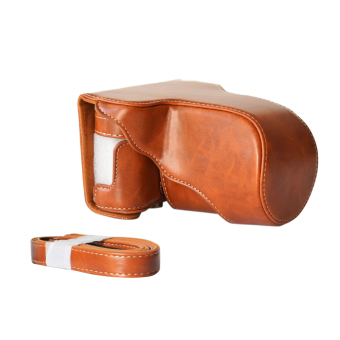 Classic PU Leather Camera Case Bag Protective Pouch with ShoulderStrap for Fuji Fujifilm X-A1 X-A2 X-A3 X-M1