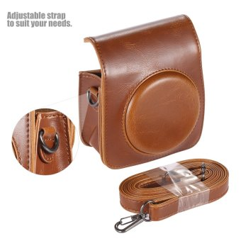 Classic Vintage Compact PU Leather Case Bag for Fujifilm InstaxMini 70 Instant Film Camera with Shoulder Strap - 2