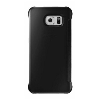 Clear Flip View Cover for Samsung Galaxy S7 Edge (Black) - 3