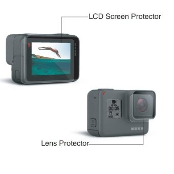 Clear LCD Screen Protector + Lens Guard Film for GoPro Hero5 Black- intl