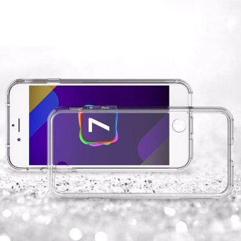 Clear TPU Soft Case Back Cover for Apple iPhone 6 Plus /6S Plus(Clear) - 2