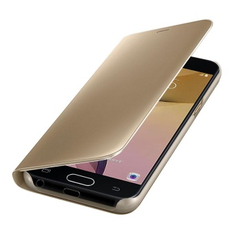 Clear View Flip Stand Case Cover For Samsung Galaxy J5 Prime Gold - intl - 5