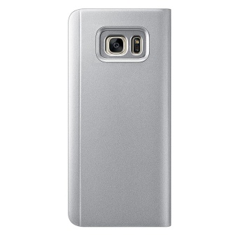 Clear View Flip Stand Case Cover For Samsung Galaxy S7 Edge Silver- intl