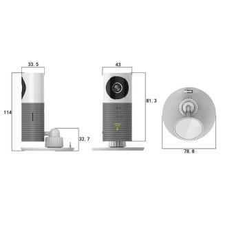 Clever Dog Smart Camera DOG-1W IR Cut Night Vision WirelessSurveillance WIFI Camera or Desk Network Camera(Grey) - intl - 4