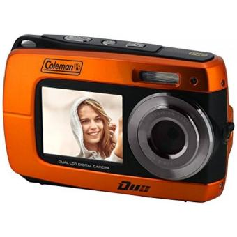 Coleman Duo2 P HD Underwater Digital & Video Camera with DualLCD Screens, 2.7, Purple