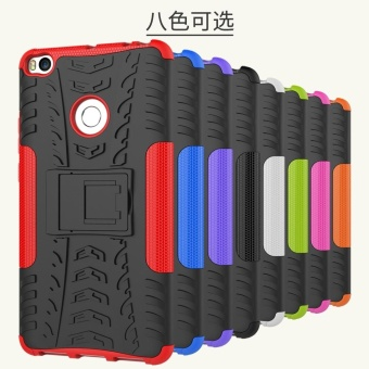 Compatible for Xiaomi Mi Max 2 Dual Layer 2 in 1 Rugged RubberHybrid Protective Armor Phone Cover Case with Kickstand VROOM -intl - 2
