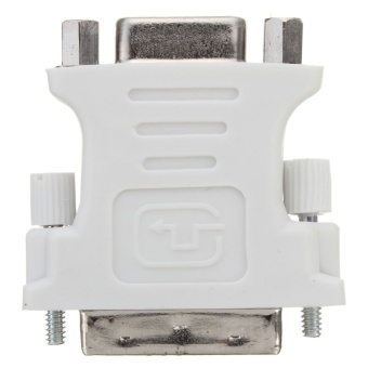 Computers Laptops Vga Cables Dvi-D 24+1 Male To Vga Female Adapter (White) - intl - 5