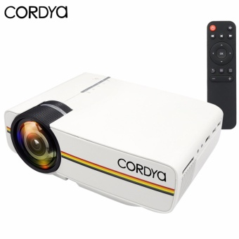 CORDYA YG-400 1080p LCD Portable Projector for Home Cinema Theater TV (White)
