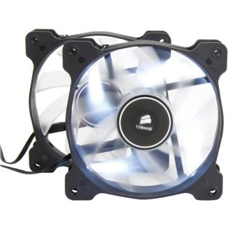 Corsair Air Series AF120 LED 120mm Quiet Edition High Airflow FanTwin Pack - White (CS-CO-9050016-WLED)