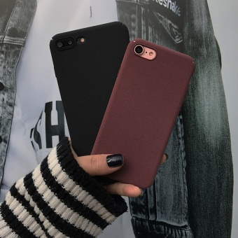 Couple's iphone6s/7 plus Jianyue Burgundy Apple matte protective case phone case