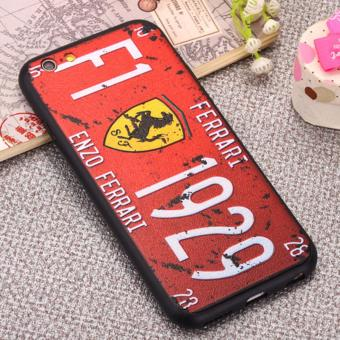 Creative 3D Embossed License Plate Phone Cases For Apple Iphone 6Plus/6s Plus (Ferrari) Price Philippines