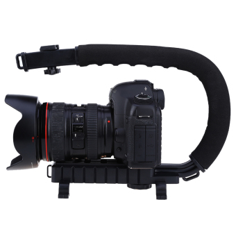 CS-VX C-shape Grip Handle Stabilizer Holder For DSLR CameraCamcorder DV (Black)