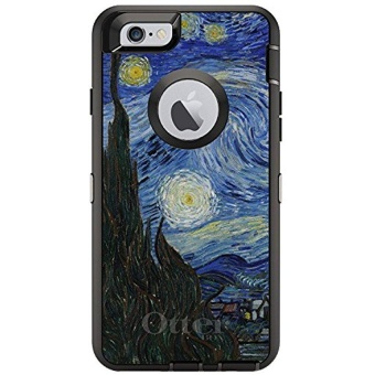 Custom Black Otterbox Defender Series Case For Apple Iphone 6 Plus 6S Plus (5.5 Model) Van Gogh Starry Night - intl