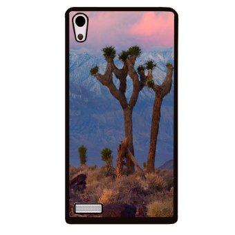 Cute Giraffe Pattern Phone Case for HTC One M8 Mini (Black)
