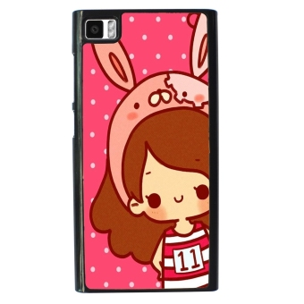 cute girl Pattern Phone Case for Xiaomi Mi3 (Pink) - picture 2