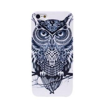 Cute Owl Hard Back Case Cover For Apple iPhone 5 5S Black And White- intl
