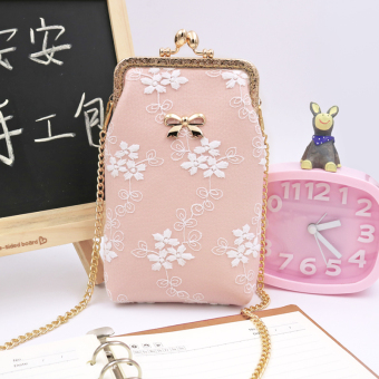 Cute portable verticle shoulder small bag mobile phone bag