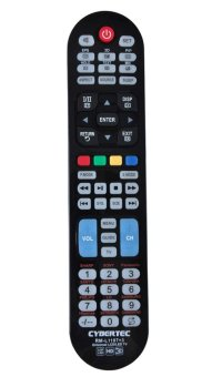 Cybertec RML1107+3 Universal TV Remote Control (Black) TV Plus orSkycable or Cignal remote control