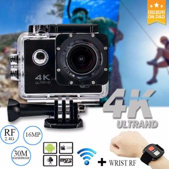 D&D 4K Sports Action Camera 16MP 2.4G Remote Controller CamUnderwater Waterproof Ultra HD Sport Camera