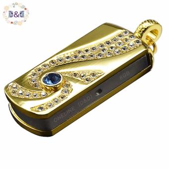 D&D CW-J8-8G 8GB Jewelry Crystal Metal USB Flash Disk (Gold) Price Philippines