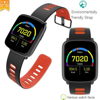 D&D GV68 Sports Bluetooth Smart Watch Heart Rate Message CallReminder Remote Control Camera IP68 Waterproof Smartwatch(Red) Price Philippines