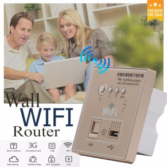 D&D OWS-WiFi Wall Mounted Wireless AP Router WIFI USB ChargingSocket Panel 150Mbps Price Philippines