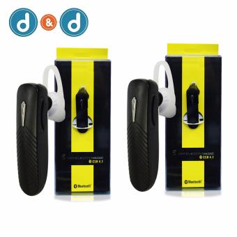 D&D Smart Bluetooth Stereo Smartphone Headset CSR 4.1 Set of 2Black Price Philippines