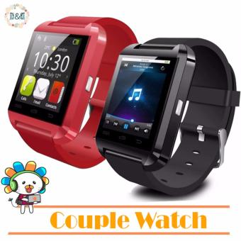 D&D U8 Couple watch Bluetooth Smartwatch (Red/Black) Price Philippines