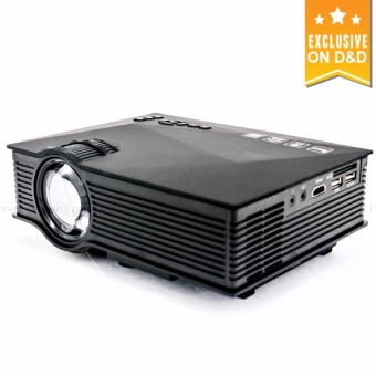 D&D UC46 1200 Lumens WIFI Portable LED Projector with LHR VGAto HDMI Cable Adapter (Black) Price Philippines