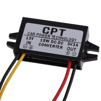 DC to DC Converter Regulator 12V to 5V 3A 15W Car Display Power Supply - intl