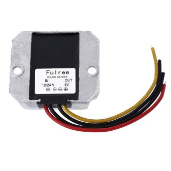 DC/DC Power Converter Regulator Module Step Down Adapter 12V/24V to6V 5A - intl