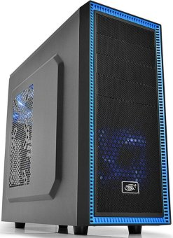 Deepcool Tesseract Metal Mesh USB 3.0 Blue LED Gaming Case - PowerSupply Not Included(Black)