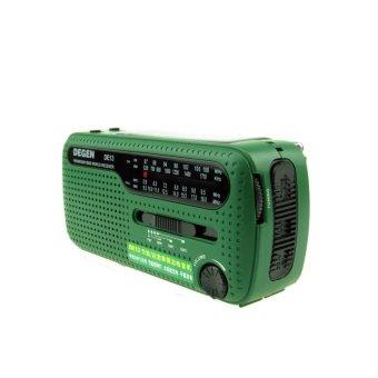 DEGEN DE13 Protable Mini Outdoor Stereo FM AM SW Radio Hand CrankGenerate Electricity/Solar Energy Charge With Flashlight - intl - 4