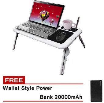 Deluxe E-Table Laptop Cooler Free 20000 mAh Wallet Styler PowerBank