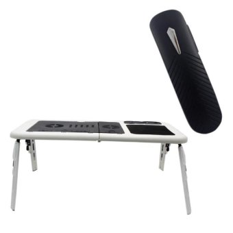 Deluxe E-Table Laptop Cooler with Multimedia BSH-339 BluetoothStereo Smartphone Headset (Black)