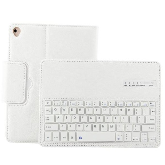 "Detachable Hidden Wireless Bluetooth Keyboard PU Leather Case SmartCover For Apple New iPad 9.7 (2017 Release)/ iPad Air 1 / iPad Air2 / iPad Pro 9.7"" -White - intl - 3"