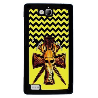 Devil Cross Chevron Pattern Phone Case for Huawei Honor 3C (Black)