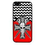 Devil Cross Chevron Pattern Phone Case for iPhone 4/4S (Black) - thumbnail 1