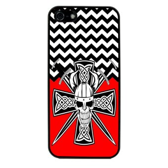 Devil Cross Chevron Pattern Phone Case for iPhone 4/4S (Black) product preview, discount at cheapest price