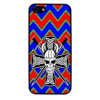 Devil Cross Chevron Pattern Phone Case for iPhone 5C (Black)