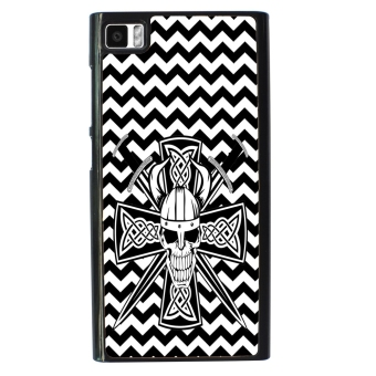 Devil Cross Chevron Pattern Phone Case for Xiaomi Mi3 (Black)