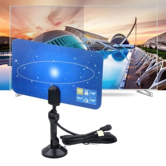 Digital Indoor TV Antenna HDTV TV Box Ready HD VHF UHF Flat DesignHigh Gain - intl