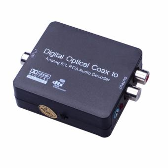 Digital Optical Coax to Analog R/L RCA Audio Decoder Converter Adapter - intl