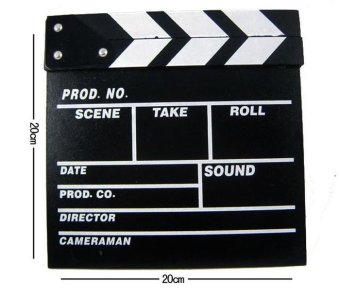 Director Video Scene Clapperboard TV Movie Clapper Board Film Cut Prop (Black)