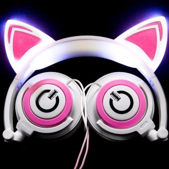 DJ Cat Ears Headphones [WhitePink] - 2