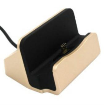 Dock Charger Stand for Android Smart Phones (Gold)