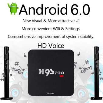 Docooler M9S-PRO Smart Android TV Box Android 6.0 Amlogic S905X Quad Core UHD 4K 2G / 16G Mini PC WiFi H.265 VP9 DLNA Miracast HD Media Player EU Plug